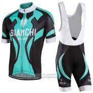 2016 Jersey Bianchi Black And Sky Blue