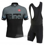 2016 Jersey Cinelli Black And Gray