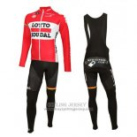 2016 Jersey Lotto Soudal Long Sleeve White And Red