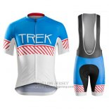 2016 Jersey Trek Bontrager White And Blue
