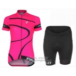 2016 Jersey Women Pinarello Black And Fuchsia
