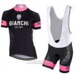 2017 Jersey Women Bianchi Black And Pink