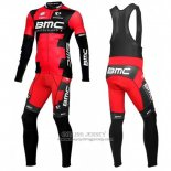 2016 Jersey BMC Long Sleeve Black And Red