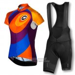2016 Jersey Women Assos Orange And Blue