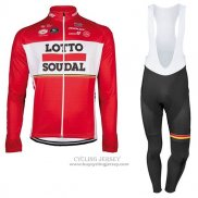 2017 Jersey Lotto Soudal ML Long Sleeve Red