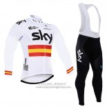 2017 Jersey Sky Champion Spagna Long Sleeve White