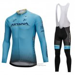 2018 Jersey Astana Long Sleeve Blue