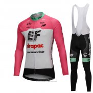 2018 Jersey Cannondale Drapac Long Sleeve White and Pink