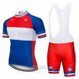 2018 Jersey FDJ Blue White Red