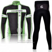 2011 Jersey Cannondale Long Sleeve White And Green