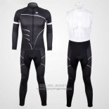 2012 Jersey Pinarello Long Sleeve Black And White