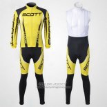 2012 Jersey Scott Long Sleeve Black And Yellow