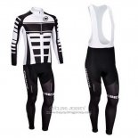 2013 Jersey Assos Long Sleeve White And Black