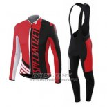 2015 Jersey Specialized Long Sleeve Black And Bright Red