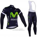 2016 Jersey Movistar Long Sleeve White And Blue