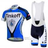 2016 Jersey Tinkoff Long Sleeve Blue And Black