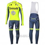 2016 Jersey Tinkoff Long Sleeve Green And Gray