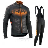 2017 Jersey Northwave ML Long Sleeve Black And Orange