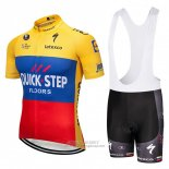 2018 Jersey Quick Step Floors Yellow Blue Red