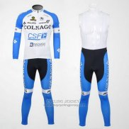 2012 Jersey Colnago Long Sleeve Sky Blue And White