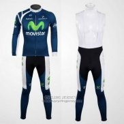 2012 Jersey Movistar Long Sleeve Blue