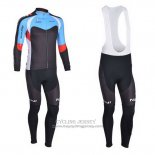 2013 Jersey Nalini Long Sleeve Black And Sky Blue