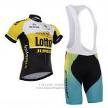 2015 Jersey Lotto NL Jumbo Black And Yellow