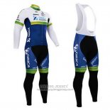 2015 Jersey Orica GreenEDGE Long Sleeve White And Blue