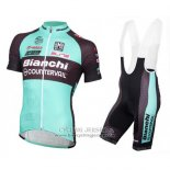 2016 Jersey Bianchi MTB Light Blue And Black