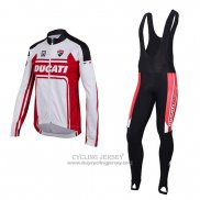 2016 Jersey Ducati Long Sleeve White And Red