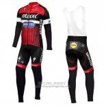 2016 Jersey Etixx Quick Step Long Sleeve Red And Black