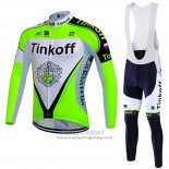 2016 Jersey Tinkoff Long Sleeve Green And Black