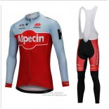 2018 Jersey Katusha Alpecin Long Sleeve Red