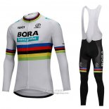 2018 Jersey UCI Mondo Champion Bora Long Sleeve White