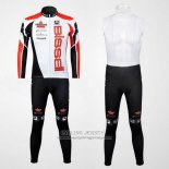 Manica Lunga 2012 Jersey Bissell White And Red