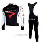 2010 Jersey Pinarello Long Sleeve Black And White
