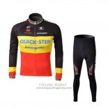 2010 Jersey Quick Step Champion Belgio Long Sleeve