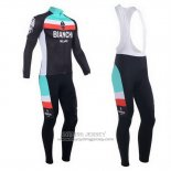 2013 Jersey Bianchi Long Sleeve Black And Light Blue