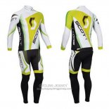 2013 Jersey Scott Long Sleeve White And Yellow5