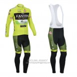 2013 Jersey Vini Fantini Long Sleeve Green And Black
