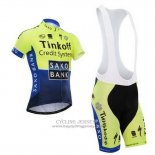 2014 Jersey Tinkoff Saxo Bank Blue And Green