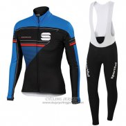 2016 Jersey Sportful Long Sleeve Black And Blue