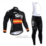 2017 Jersey Sky Champion Spagna Long Sleeve Black