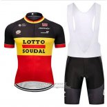 2018 Jersey Lotto Soudal Black Yellow Red