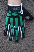 Skull Full Finger Gloves Black And Green