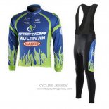 2010 Jersey Merida Long Sleeve Blue And Green