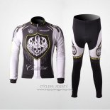 2010 Jersey Rock Racing Long Sleeve Silver And White