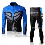 2010 Jersey Shimano Long Sleeve Blue And Black
