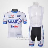 2012 Jersey FDJ White And Sky Blue
