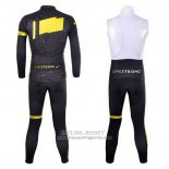 2012 Jersey Livestrong Long Sleeve Black And Yellow